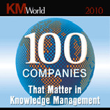 KM World 100 Companies that Matter in Knowledge Management